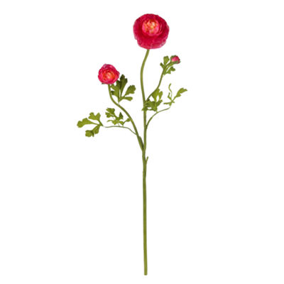 "Nearly Natural 23"" Ranunculus Stems - Set of 12"