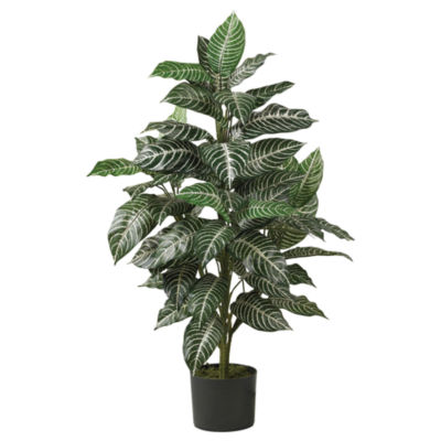 Nearly Natural 3-ft. Zebra Silk Plant