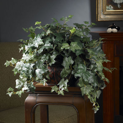 Nearly Natural Puff Ivy Silk Plant with Vase