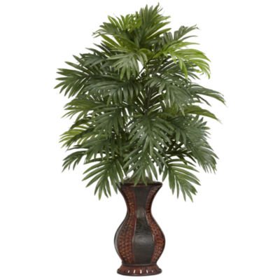 Nearly Natural Areca Palm Silk Plant with Urn
