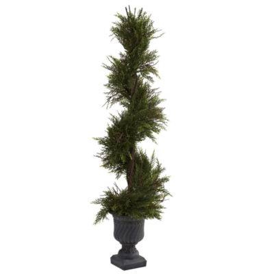 Nearly Natural 45 Mini Pine Spiral With Urn Indoor/Outdoor
