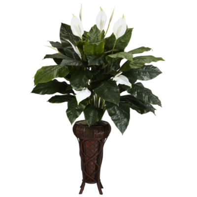 Nearly Natural Spathiphyllum Silk Plant with Stand