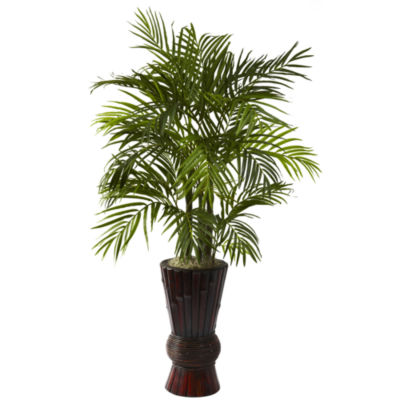 Nearly Natural 4-ft. Areca With Bamboo Planter