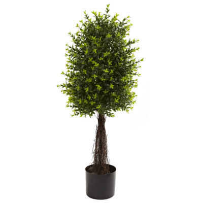 Nearly Natural 35-ft.-ft. Ixora Topiary UV-Resistant Indoor/Outdoor