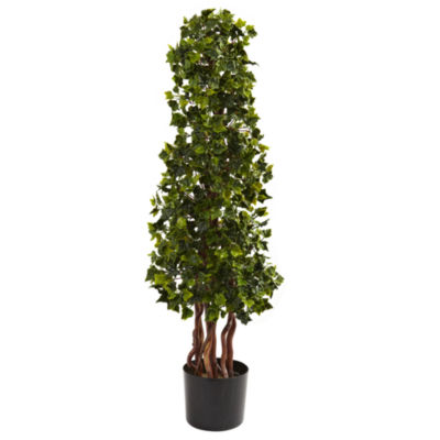 Nearly Natural 3.5-ft. English Ivy Spiral UV-Resistant Indoor/Outdoor