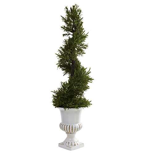 Nearly Natural 3-ft. Rosemary Spiral With Urn Indoor/Outdoor