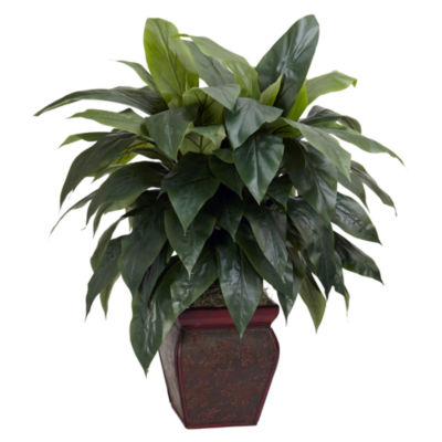 Nearly Natural Cordyline With Decorative Vase Silk Plant