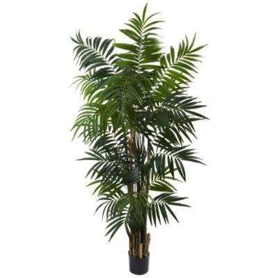 Nearly Natural 6-ft. Bulb Areca Palm Tree