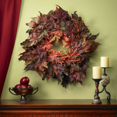 Nearly Natural 30 Maple Leaf Wreath