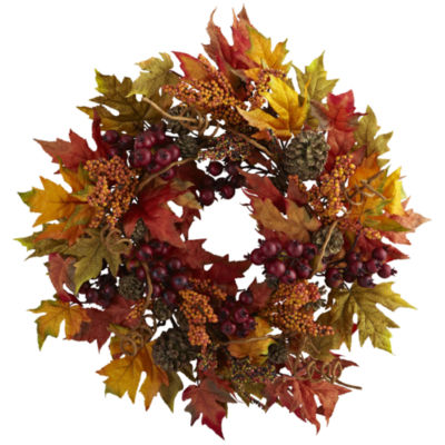 """24"""" Maple And Berry Wreath"""