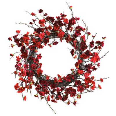 "24"" Plum Blossom Wreath"