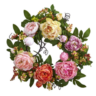 20'' Mixed Peony & Berry Wreath