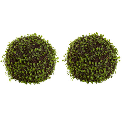 "Nearly Natural 9"" Set of 2 Mohlenbechia Ball"