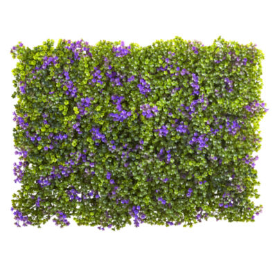 """6x6"""" Purple & Green Clover Mat - Set of 12"""