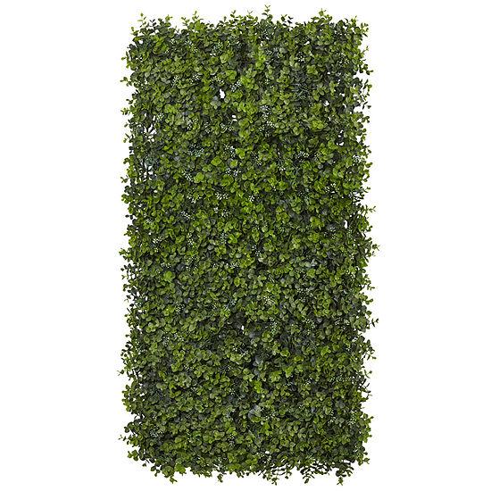 """Nearly Natural 12"""" X 12"""" Set of 8 Eucalyptus Mat"""