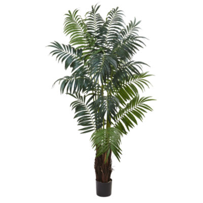 Nearly Natural 7.5-ft. Bulb Areca Palm Tree