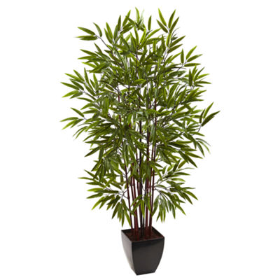 Nearly Natural Bamboo Silk Tree With Planter