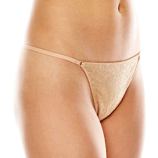 Ambrielle® Lace G-String Panties