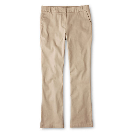 IZOD® Stretch Twill Regular Fit Boot-Cut Pants - Girls 7-16, Slim and Plus