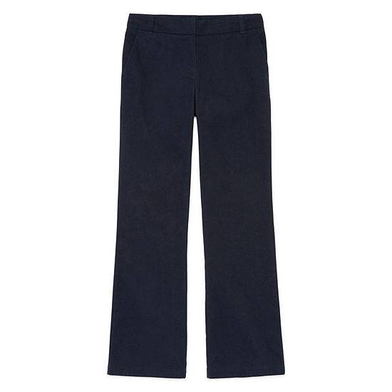 IZOD® Stretch Twill Regular Fit Boot-Cut Pants - Girls 7-16, Slim and Plus