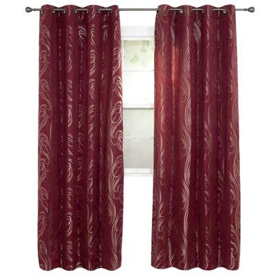 Cambridge Home Dinah Jacquard Grommet-Top Curtain Panel