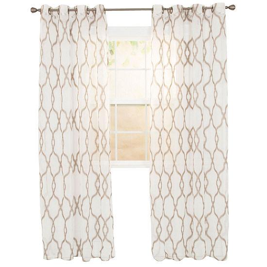 Elisa Grommet-Top Single Sheer Curtain Panel