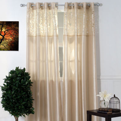 Cambridge Home Karla Laser-Cut Grommet-Top Curtain Panel