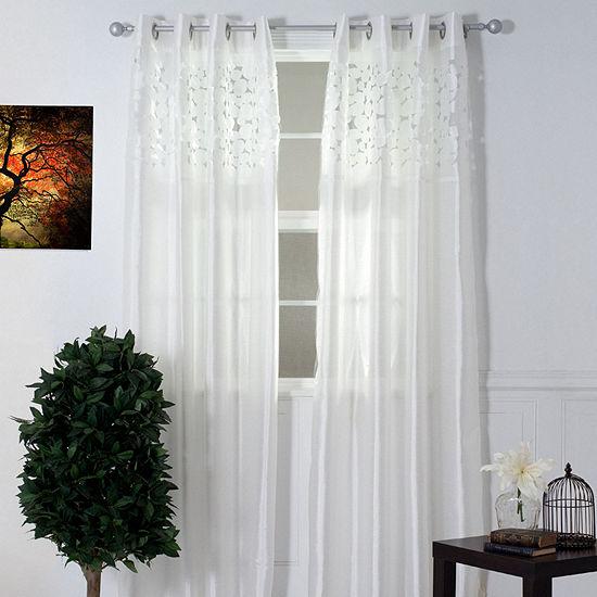 Cambridge Home Karla Laser-Cut Grommet-Top Curtain Panel