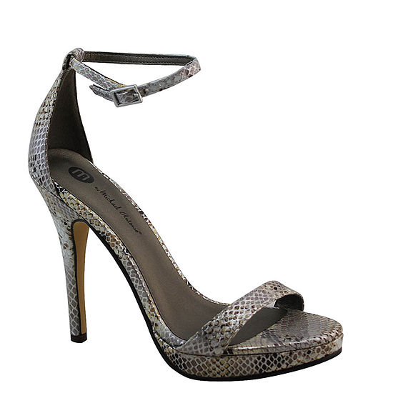 Michael Antonio Lovina Womens Ankle-Strap Satin Platform Sandals