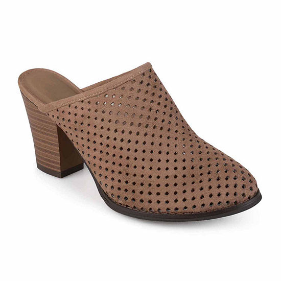 Journee Collection Womens Verdi Mules Pull On Round Toe