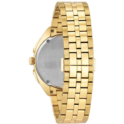 Bulova Curv Mens Gold Tone Bracelet Watch-97a125