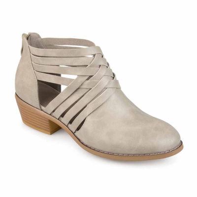 Journee Collection Womens Thelma Booties Block Heel Zip