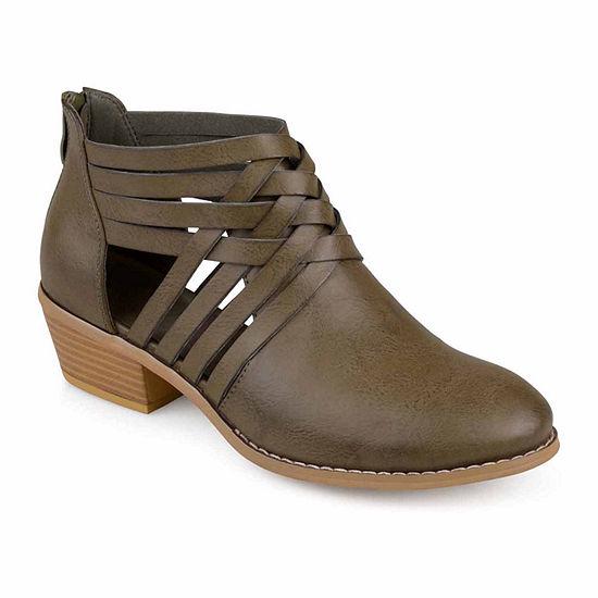 Journee Collection Womens Thelma Block Heel Zip Booties