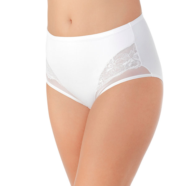 Vanity Fair Smoothing Comfort Mesh and Lace Brief Panties- 13267