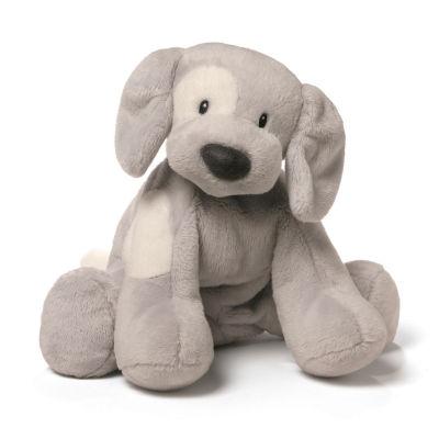 Gund Spunky Dog 10 Plush Gray Stuffed Animal