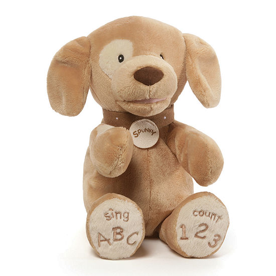 Gund Spunky Dog Tan Abc/123 Stuffed Animal
