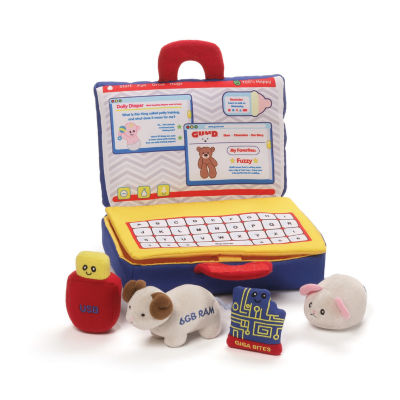 Gund My First Laptop Playset 5-pc. Plush Play Sets