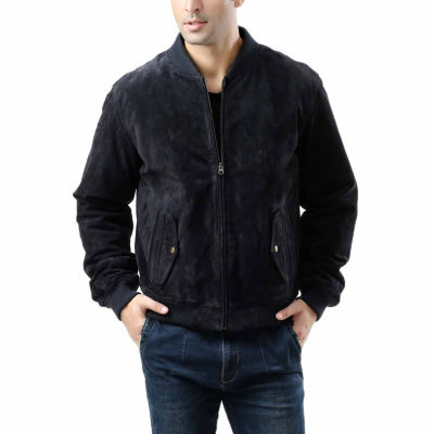 Wallace Suede Bomber Jacket Tall