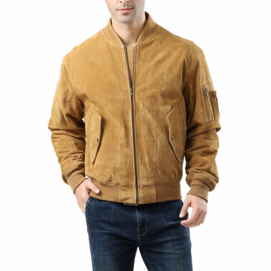 Ma 1 Suede Leather Suede Bomber Jacket Tall
