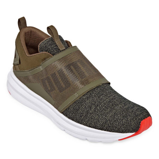 Puma Enzo Strap Knit Mens Training Shoes Lace-up