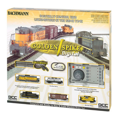 Bachmann Trains - Golden Spike, N Scale Ready to Run Electric Train Set with Digital Command Control