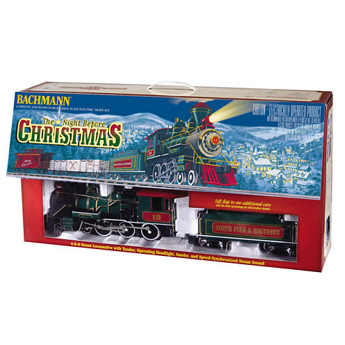 Bachmann Trains - Night Before Christmas Ready-to-Run Large Scale Train Set
