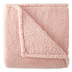 JCPenney Home Feathersoft Knit Midweight Throw