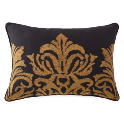 Royal Velvet Hayden Embroidered Oblong Decorative Pillow