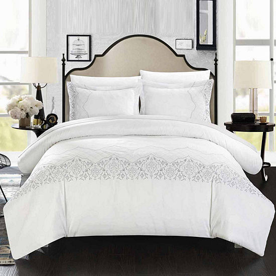 Chic Home Sophia 3-pc. Embroidered Duvet Cover Set