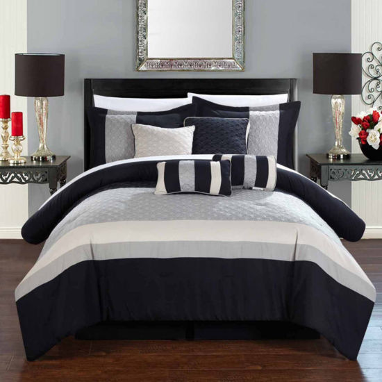 Chic Home Diamante 8-pc. Midweight Comforter Set