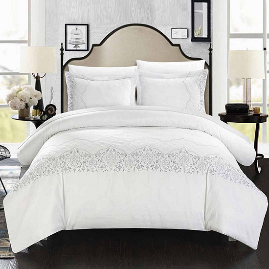 Chic Home Sophia 7-pc. Embroidered Duvet Cover Set