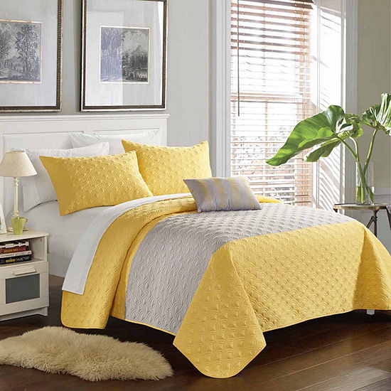 Chic Home Dominic 8-pc. Embroidered Quilt Set