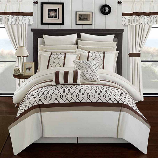 Chic Home Dinah 24 Pc Midweight Comforter Set Jcpenney
