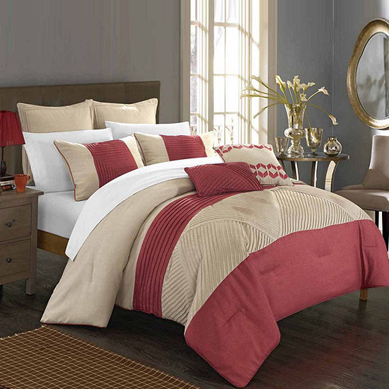 Chic Home Marbella 11-pc. Midweight Embroidered Comforter Set